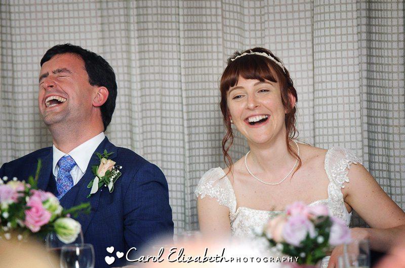 Informal wedding photography of bride