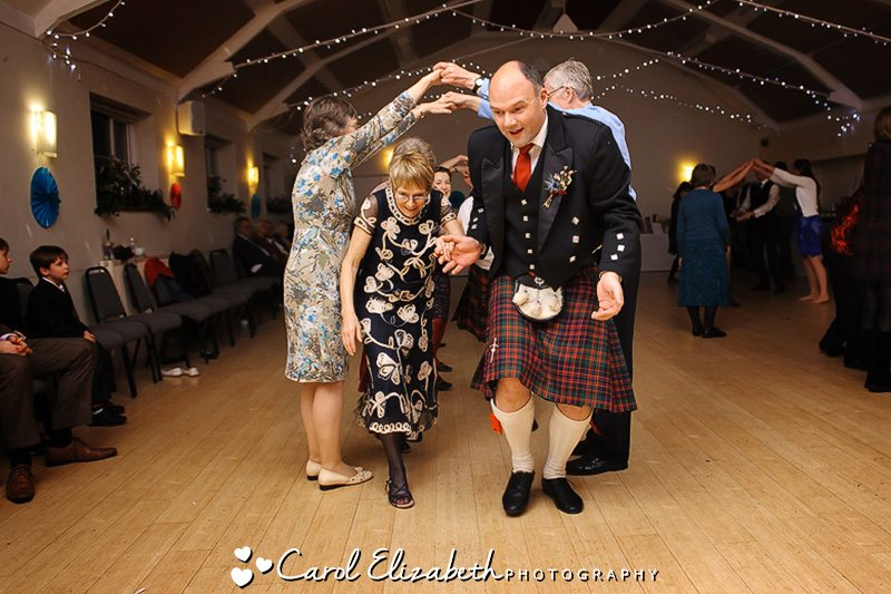 Wedding ceilidh dance photo