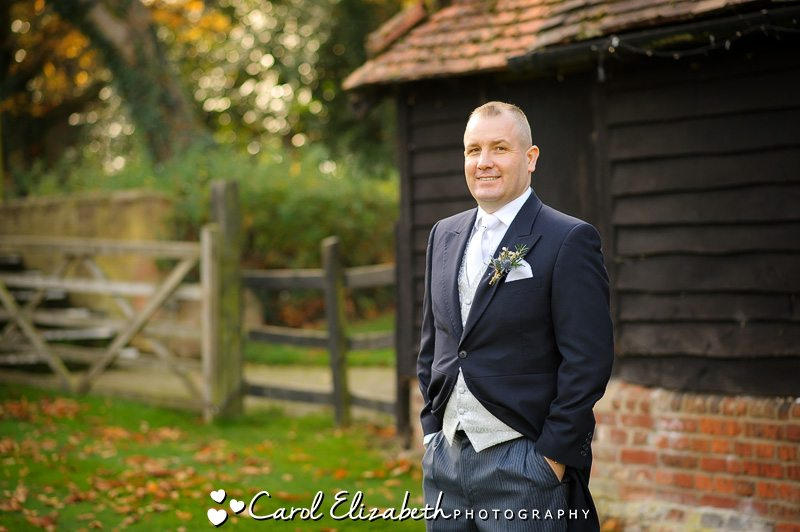 Groom at Lains Barn