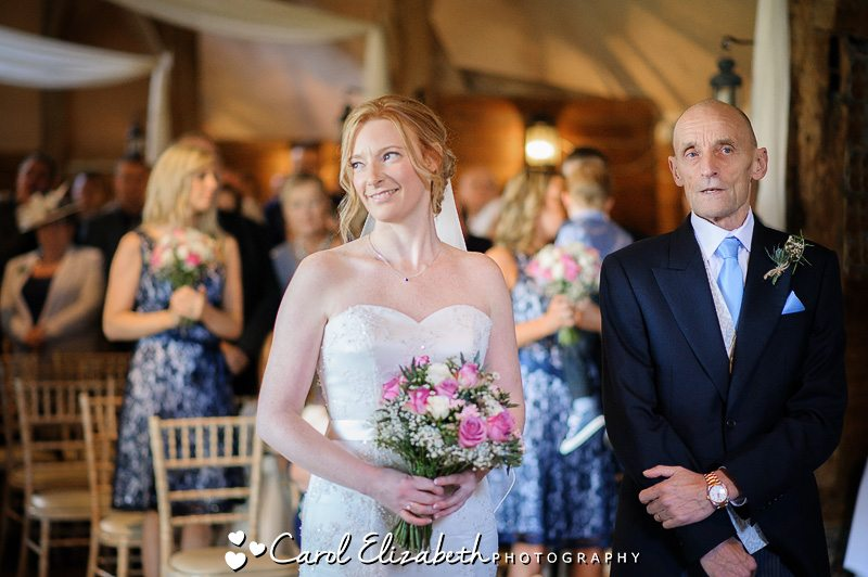 Wedding ceremony at Lains Barn