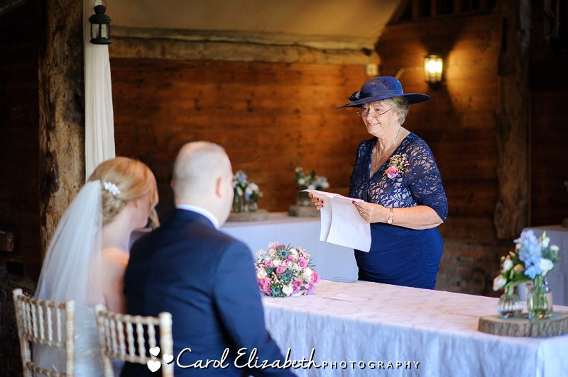 Mum giving speech at wedding