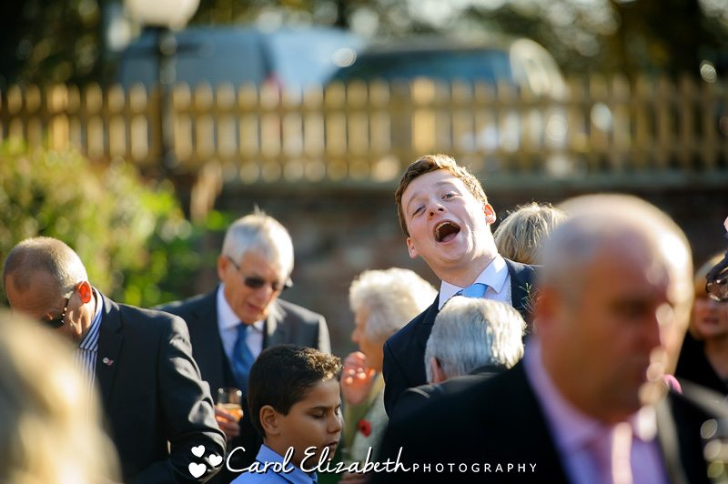 Guests having fun at wedding
