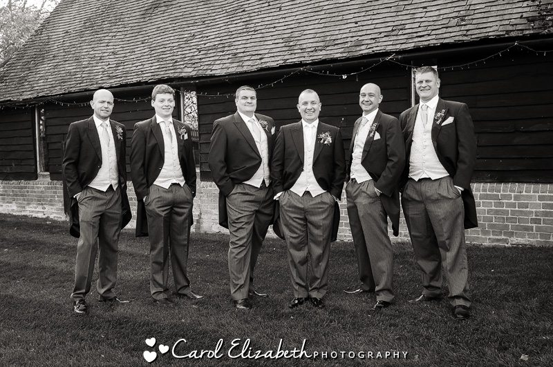 Groom and ushers in black and white