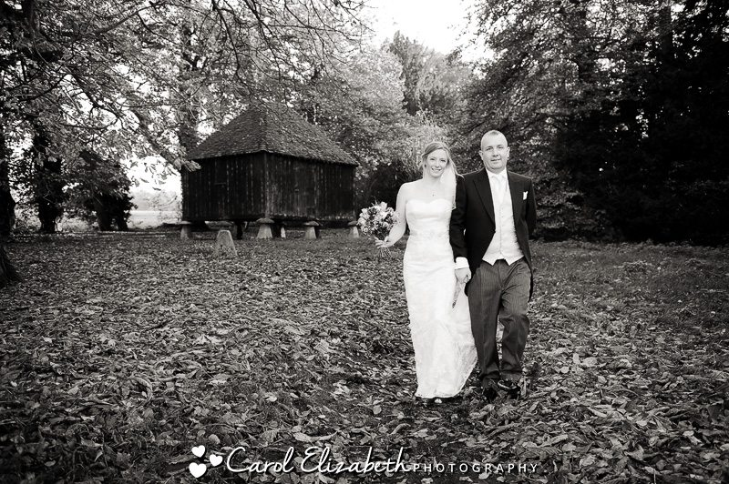 Informal lains barn wedding photo