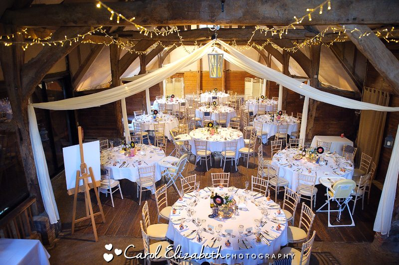 Lains Barn wedding reception room