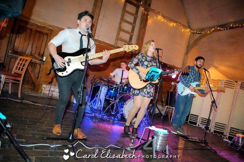 The Vents playing at a wedding reception