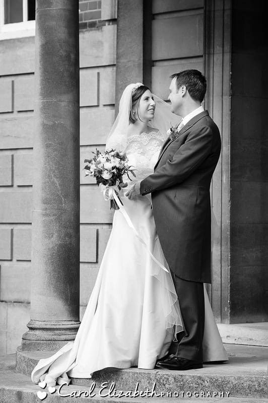 Black and white wedding photographer in Oxfordshire