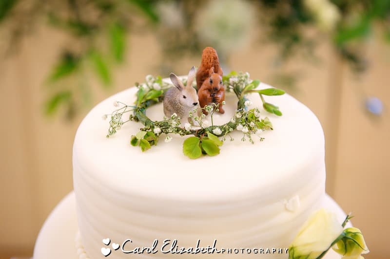 Wedding cake with squirrels
