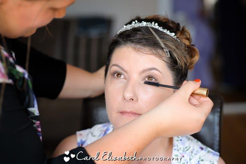 Bridal prep photos in Oxford