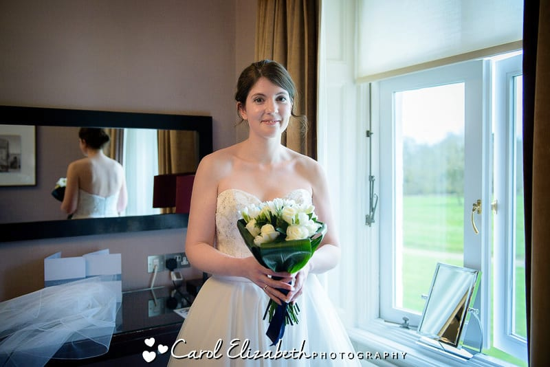 Bride at Milton Hill wedding