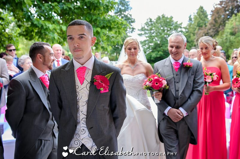 Bride sees groom for first time