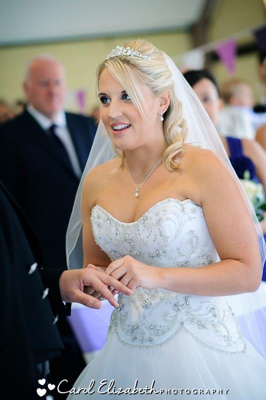 Wedding ceremony at Steventon House