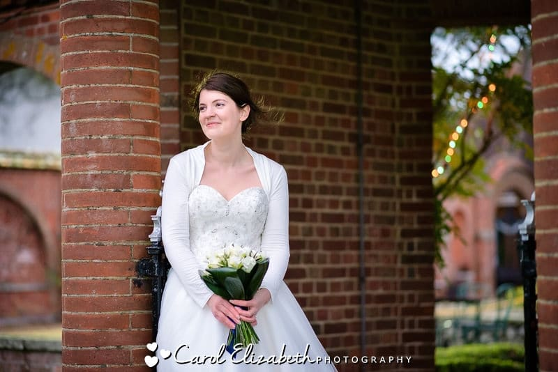 Bride at Milton Hill House wedding in Oxfordshire