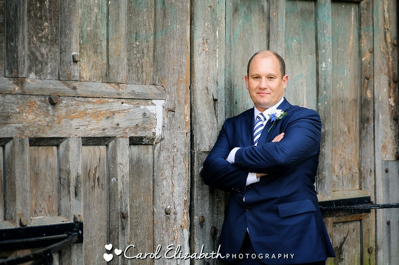 Rustic groom portrait