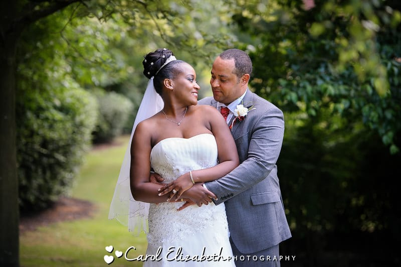 Bride and groom portrait at Four Pillars