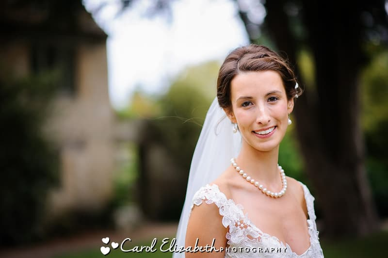 Beautiful bride at Caswell House wedding