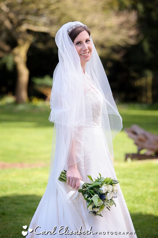 Beautiful bride at Oxford College wedding