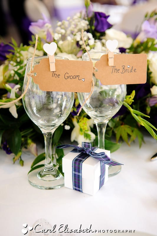 Tartan wedding decorations