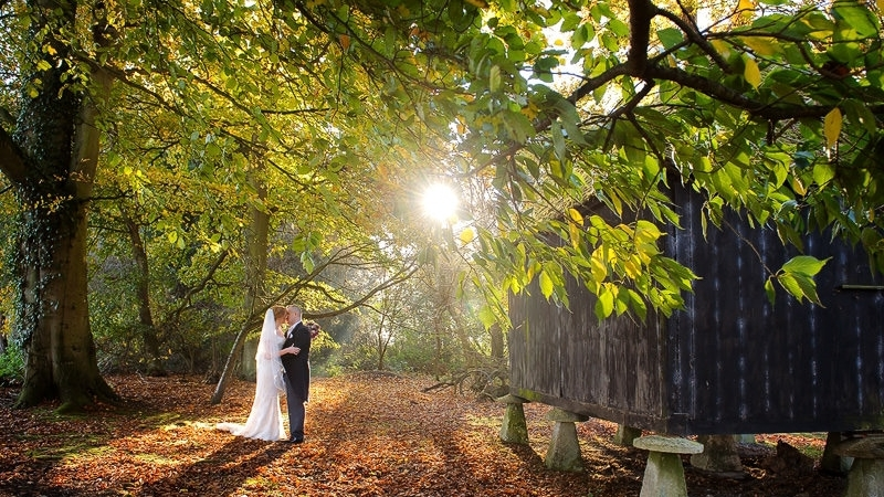 Autumn wedding at Lains Barn next to the barn