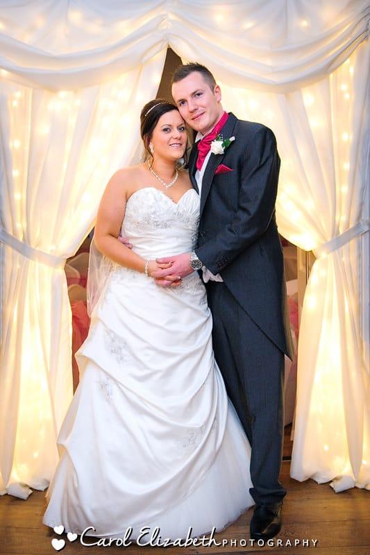 Steventon House weddings with fairy light curtains