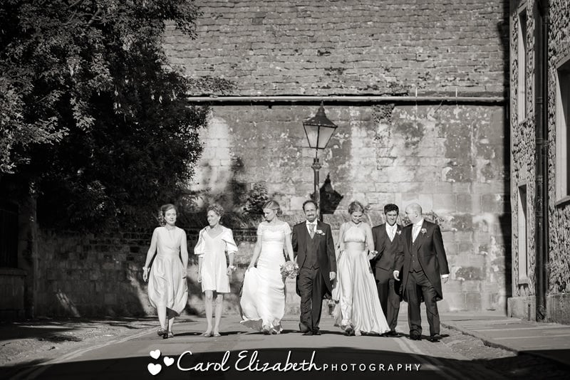 Bridal party reportage photography in Oxford