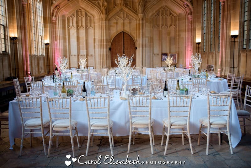 Bodleian Library wedding reception