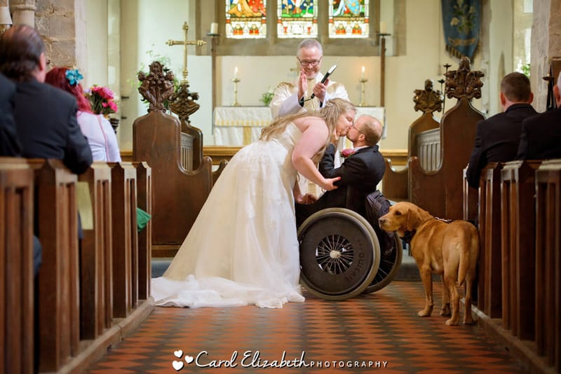 Wedding with wheelchair