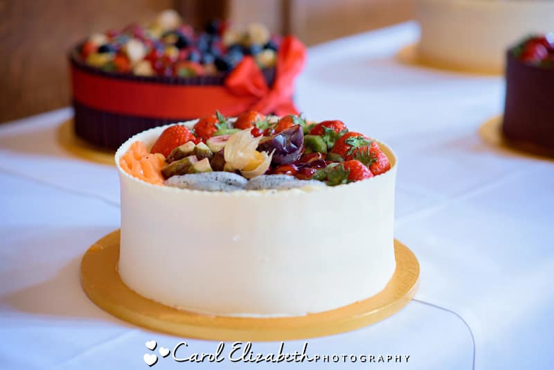 Wedding gateau with fruit