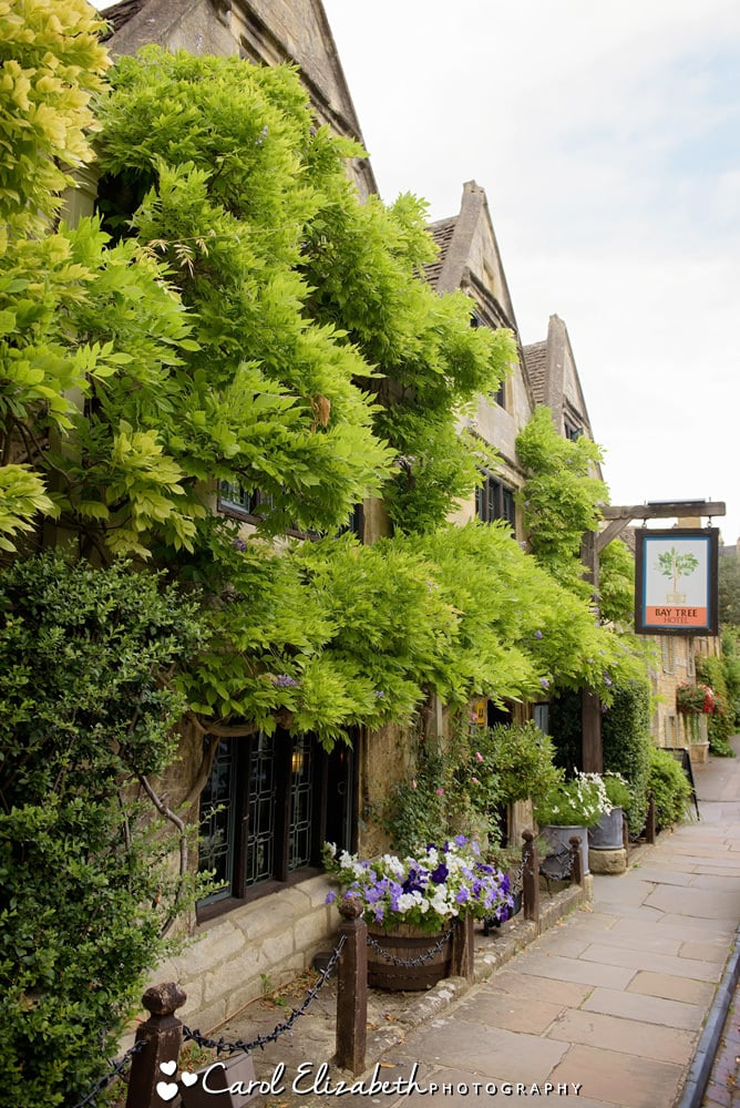 The Bay Tree Hotel in Burford - exterior in summer