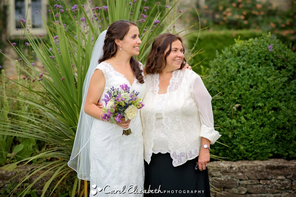 Bride and her mum in a candid moment
