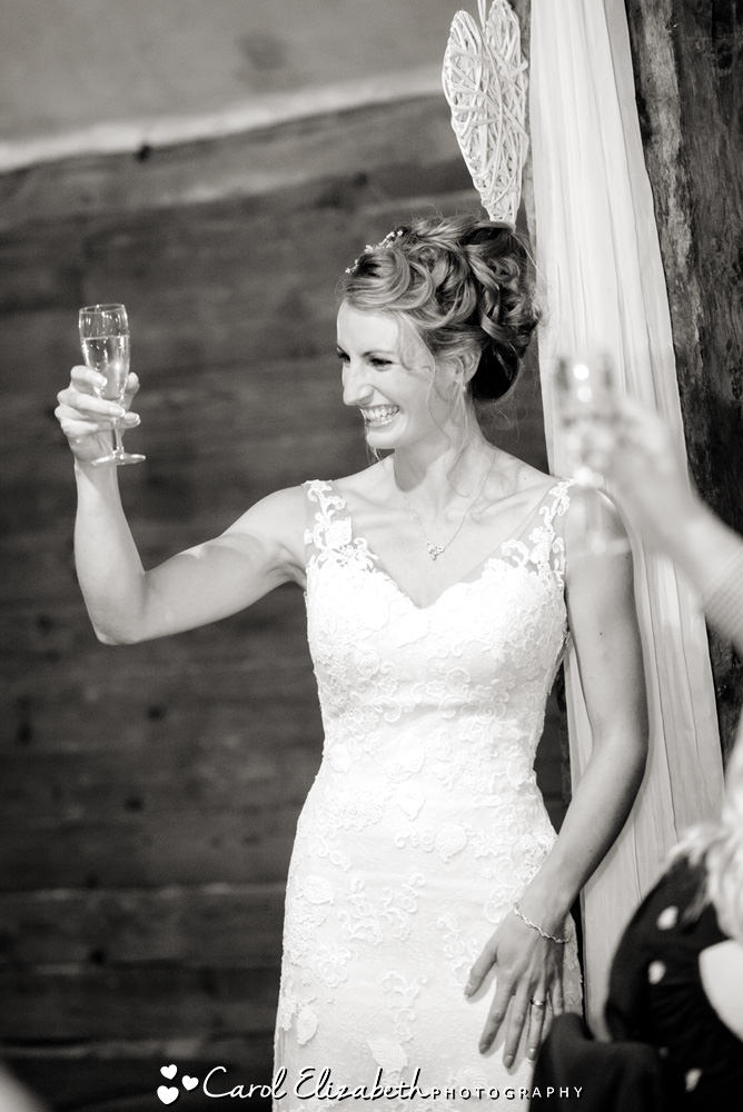 Bride wedding toast