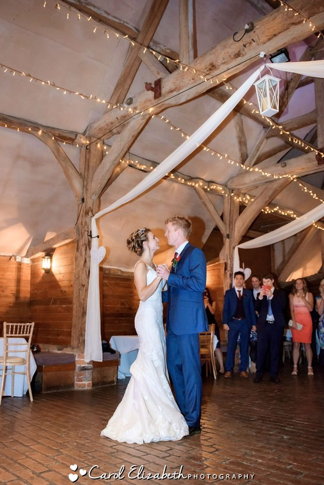First dance at Lains Barn wedding