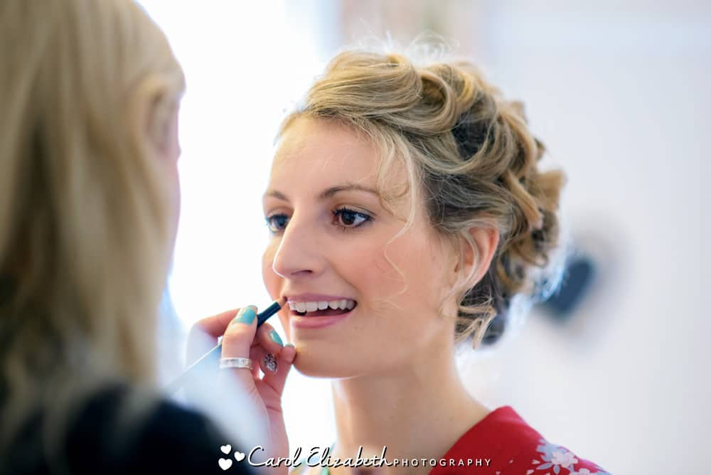 Bridal preparations and make-up