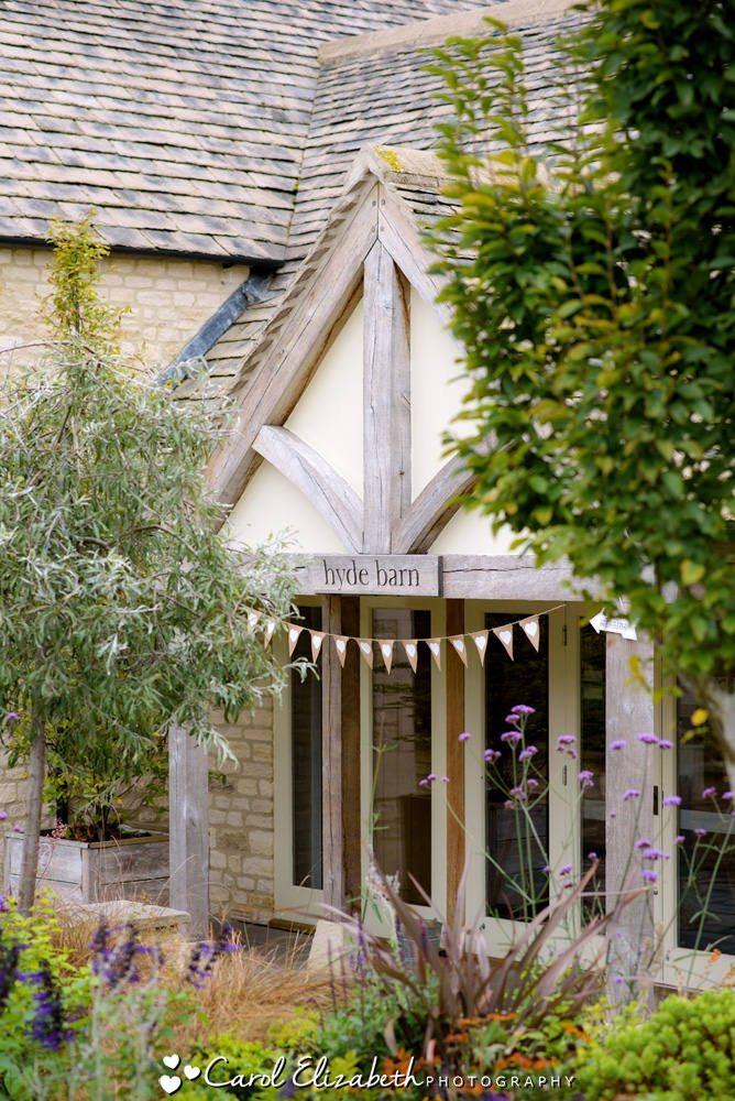 Hyde Barn wedding venue - main doors