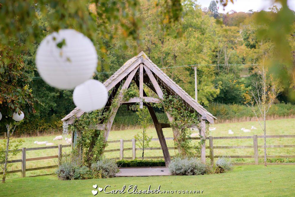 Hyde Barn wedding venue - outdoor ceremony space