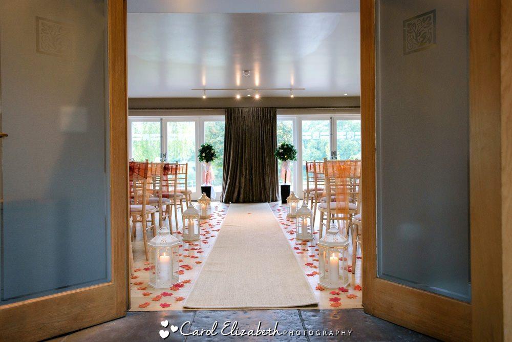 Hyde Barn wedding ceremony room