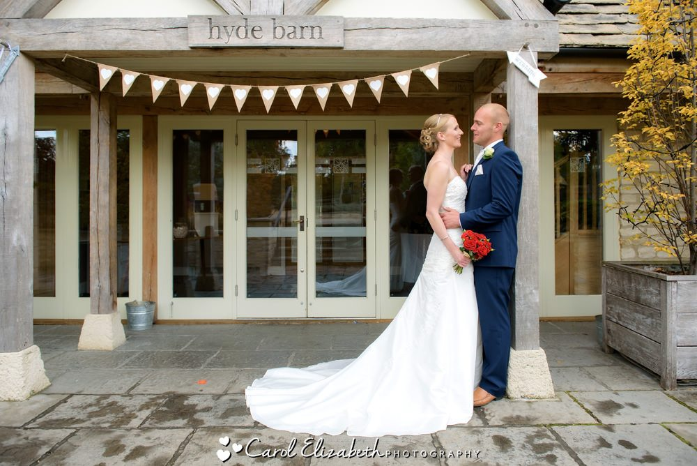 Cotswold weddings at Hyde Barn