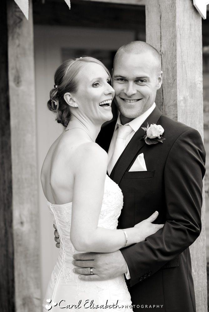 Candid photo of the wedding couple