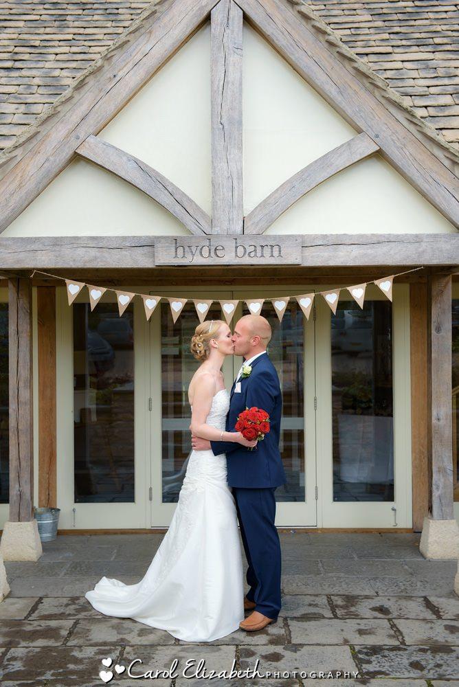 Wedding photographer at Hyde Barn