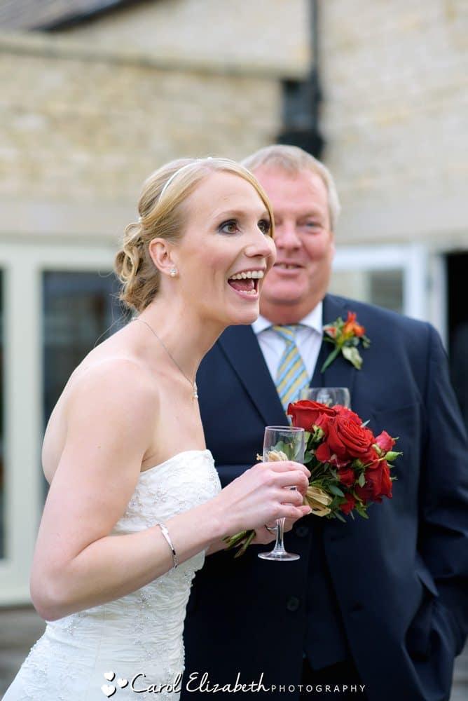 Natural wedding photography at Hyde Barn
