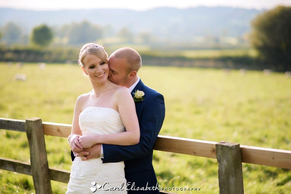 Relaxed portraits at Hyde Barn wedding