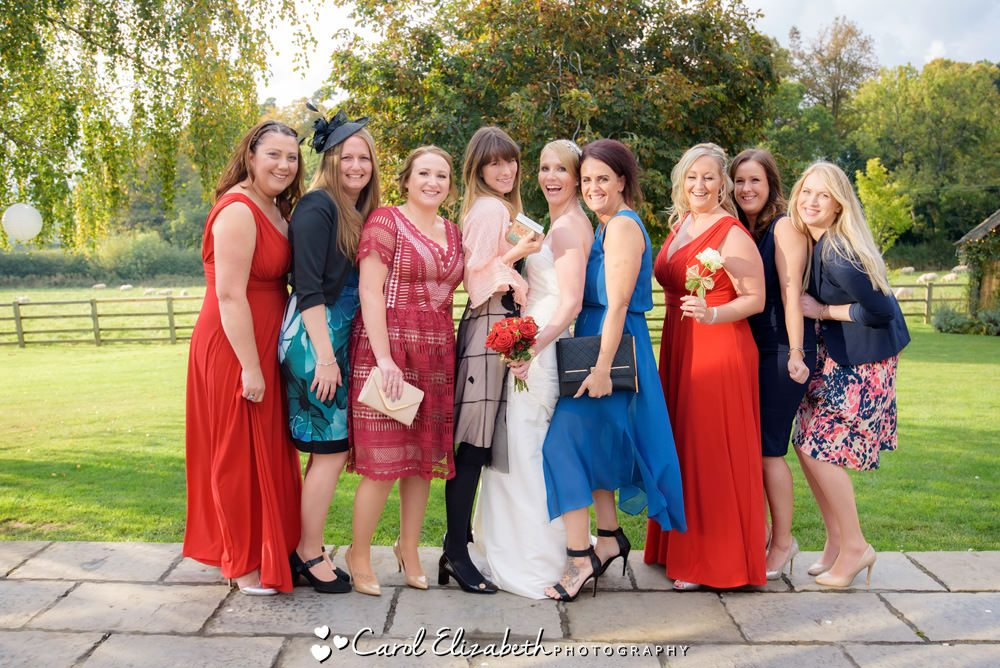 Bride and friends photo