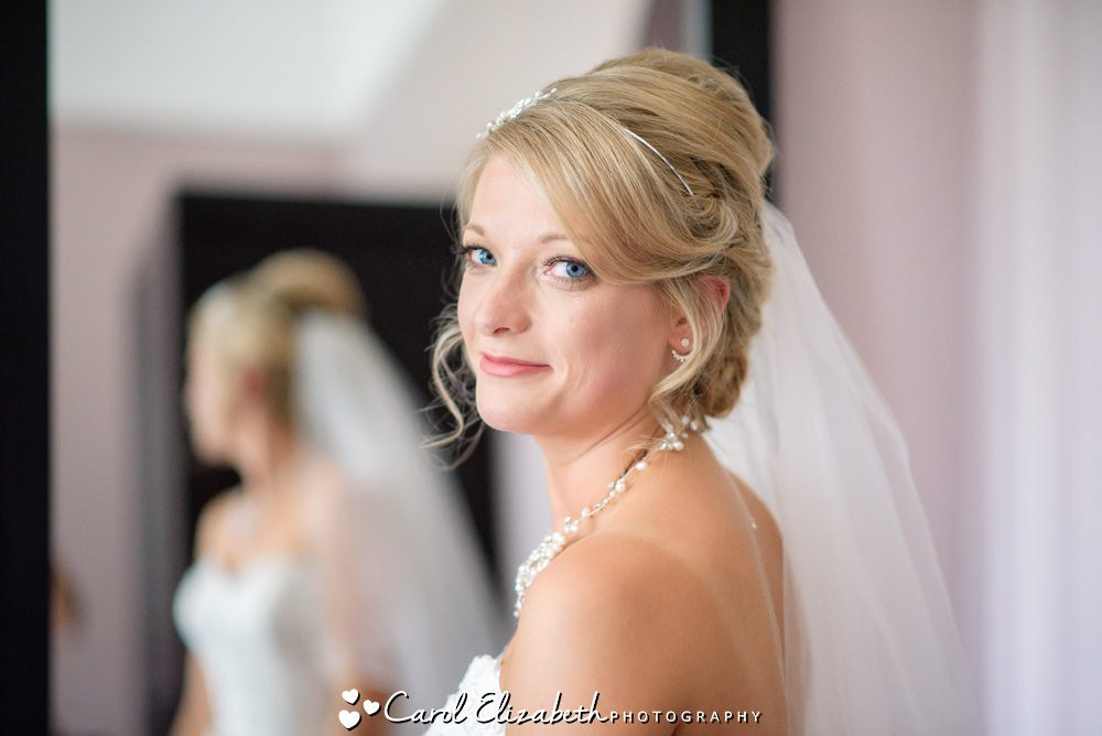 Bride before wedding at Milton Hill House Hotel