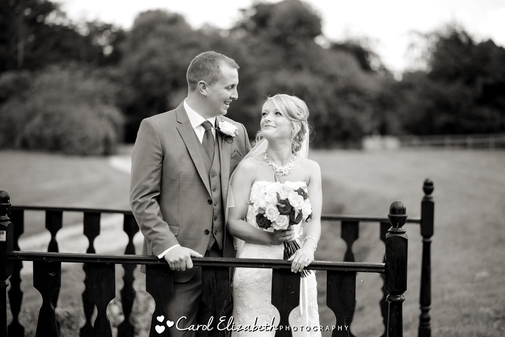 Bride and groom at Milton Hill wedding