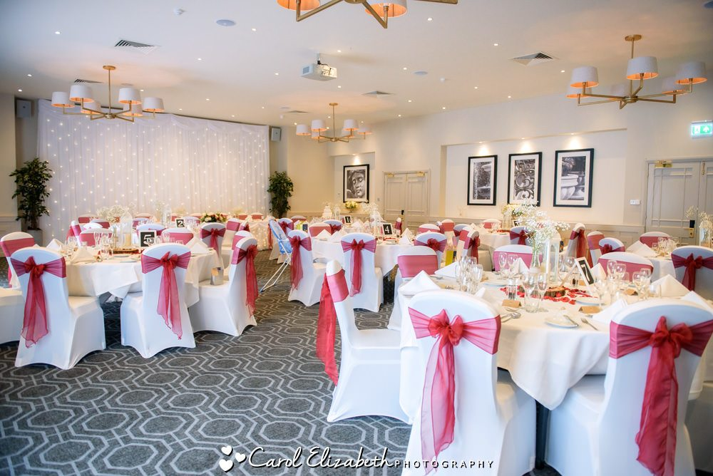 Milton Hill House wedding reception room