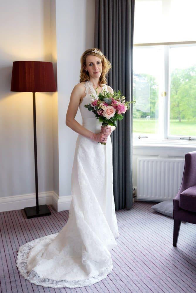 Bride at Milton Hill House Hotel wedding