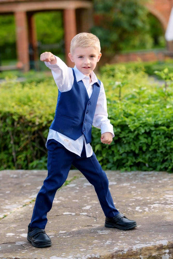 Child playing at Milton Hill wedding reception