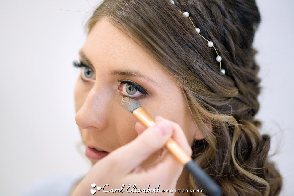 Bridal preparations - hair and make-up