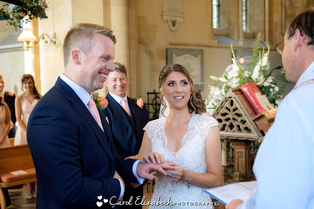 Church wedding ceremony in Oxfordshire