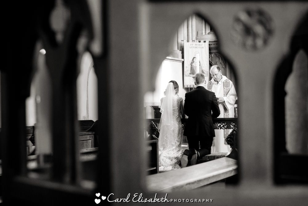 Wedding ceremony at St Marys Church Oxfordshire